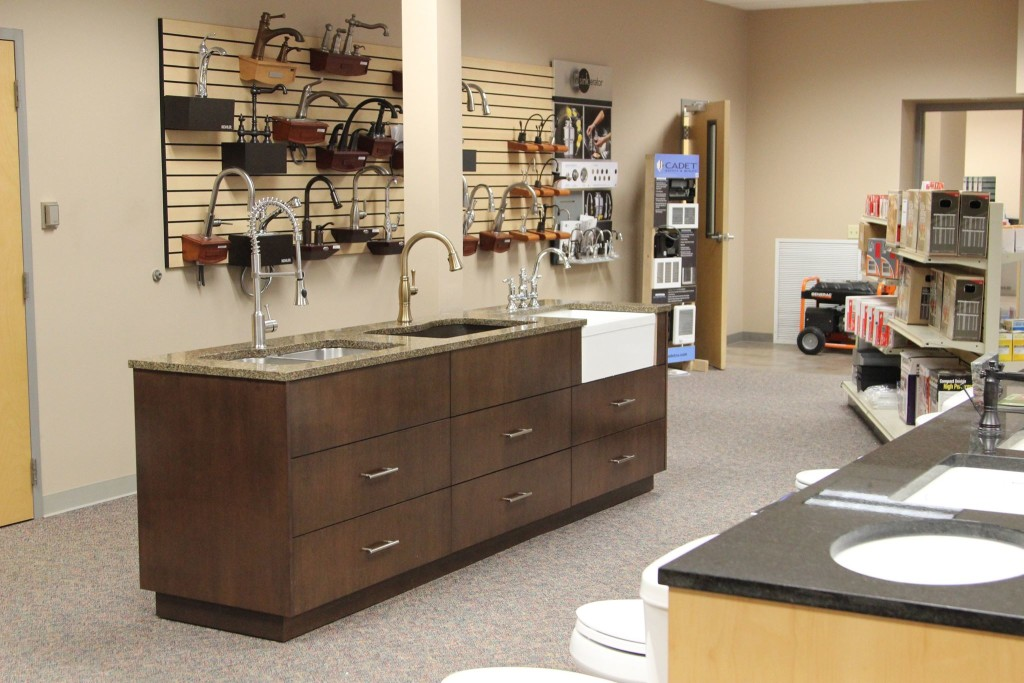 Faucets and Sinks on display in showroom