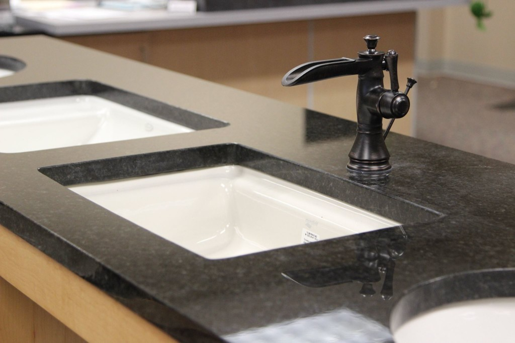Sink and faucet in our showroom