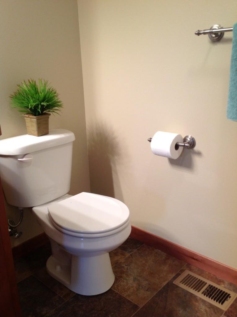 Toilet installed by Van's Plumbing & Electric