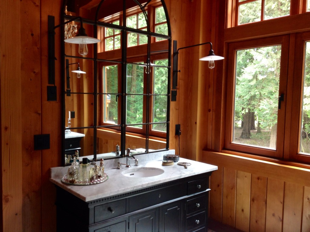 Bathroom sink and faucet installed by Van's Plumbing & Electric