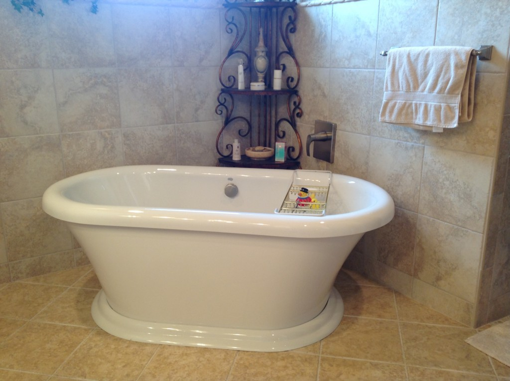 Bathtub installed in a customer's house