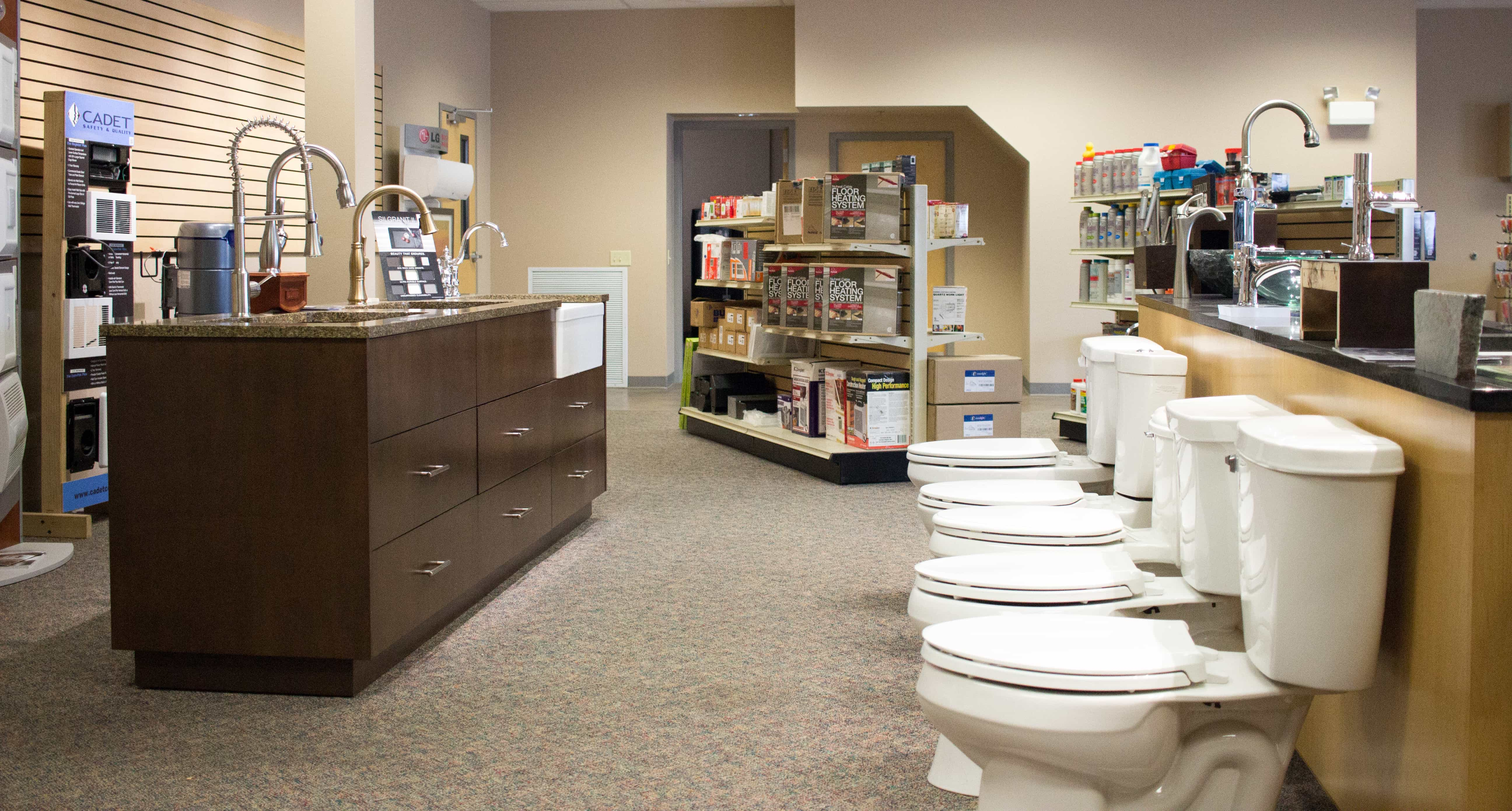 Beyond services, Van's Plumbing & Electric offers a showroom with a wide variety of products on display.